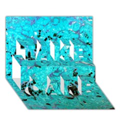 Aquamarine Collection Take Care 3d Greeting Card (7x5)  by bighop
