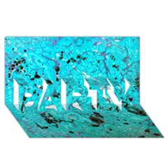 Aquamarine Collection Party 3d Greeting Card (8x4)  by bighop