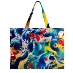 Colors of the world Bighop Collection by Jandi Zipper Large Tote Bag by bighop