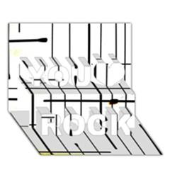 White Limits By Jandi You Rock 3d Greeting Card (7x5)