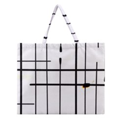 White Limits By Jandi Zipper Large Tote Bag by bighop