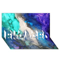 Violet Art Engaged 3d Greeting Card (8x4)