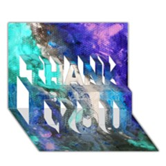 Violet Art Thank You 3d Greeting Card (7x5) by 20JA