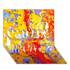 Gold And Red You Are Invited 3d Greeting Card (7x5)