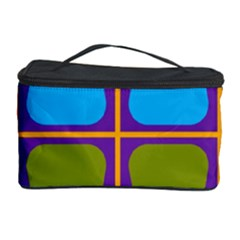 Shapes In Squares Pattern Cosmetic Storage Case by LalyLauraFLM