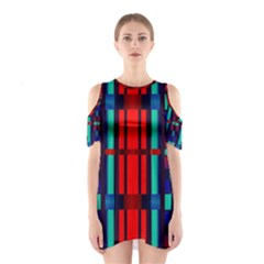 Stripes and rectangles  Women s Cutout Shoulder Dress by LalyLauraFLM