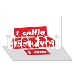 I Selfie Therefore I Am BEST BRO 3D Greeting Card (8x4)  by theimagezone
