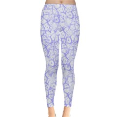 Officially Sexy Light Purple & White Cracked Pattern Winter Leggings  by OfficiallySexy