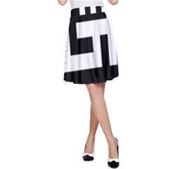 Black And White A Line Skirt by timelessartoncanvas