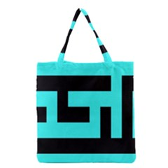 Black And Teal Grocery Tote Bag by timelessartoncanvas