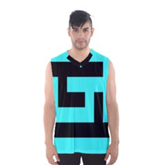 Black And Teal Men s Basketball Tank Top by timelessartoncanvas