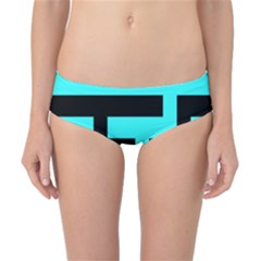 Black And Teal Classic Bikini Bottoms by timelessartoncanvas