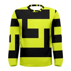 Black And Yellow Men s Long Sleeve Tee by timelessartoncanvas