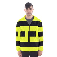 Black And Yellow Hooded Wind Breaker (men) by timelessartoncanvas