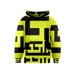 Black And Yellow Kids  Pullover Hoodie by timelessartoncanvas