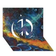 Space Balls Peace Sign 3d Greeting Card (7x5)
