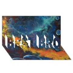 Space Balls Best Bro 3d Greeting Card (8x4)  by timelessartoncanvas