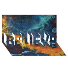 Space Balls Believe 3d Greeting Card (8x4)  by timelessartoncanvas