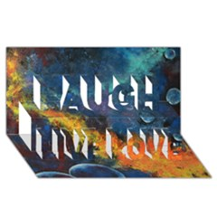 Space Balls Laugh Live Love 3d Greeting Card (8x4)  by timelessartoncanvas