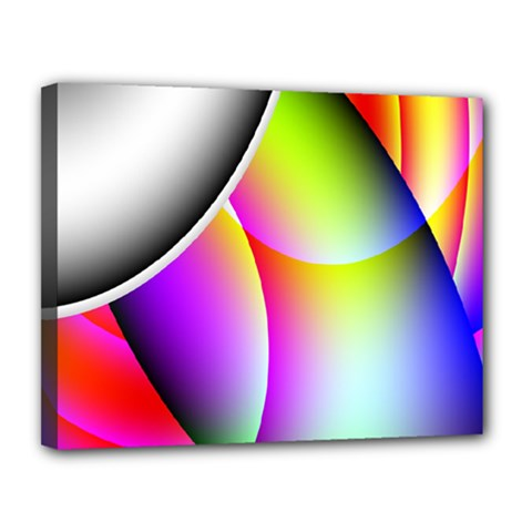 Psychedelic Design Canvas 14  X 11  by timelessartoncanvas