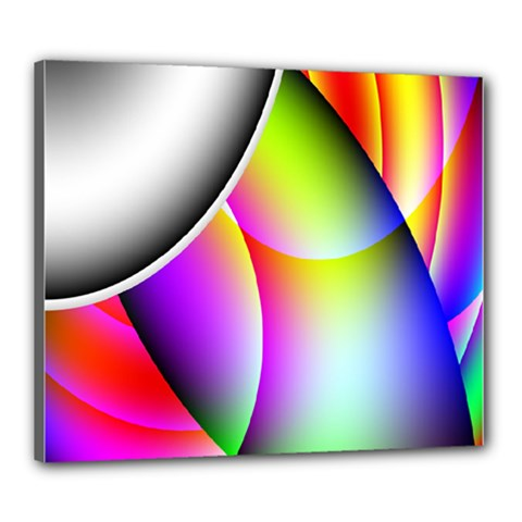 Psychedelic Design Canvas 24  X 20  by timelessartoncanvas
