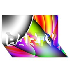 Psychedelic Design Party 3d Greeting Card (8x4)  by timelessartoncanvas