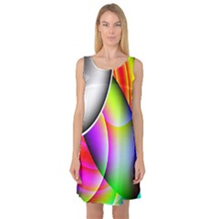Psychedelic Design Sleeveless Satin Nightdress by timelessartoncanvas