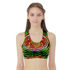 Star Bright Women s Sports Bra With Border