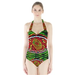 Star Bright Women s Halter One Piece Swimsuit