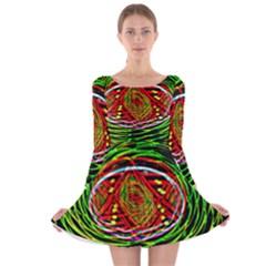 Star Bright Long Sleeve Velvet Skater Dress