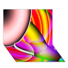 Colorful 1 Heart Bottom 3d Greeting Card (7x5)  by timelessartoncanvas
