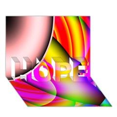 Colorful 1 Hope 3d Greeting Card (7x5)  by timelessartoncanvas
