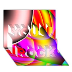Colorful 1 You Rock 3d Greeting Card (7x5)