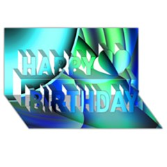 New 2 Happy Birthday 3d Greeting Card (8x4)  by timelessartoncanvas