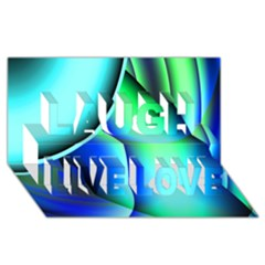 New 2 Laugh Live Love 3d Greeting Card (8x4)  by timelessartoncanvas