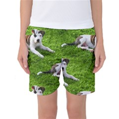 Pit Bull T Bone Puppy Women s Basketball Shorts by ButThePitBull