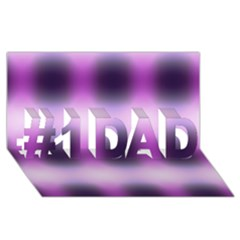 New 3 #1 Dad 3d Greeting Card (8x4)  by timelessartoncanvas