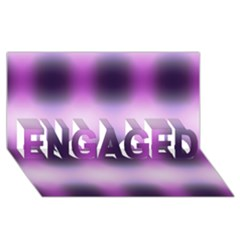 New 3 Engaged 3d Greeting Card (8x4)