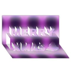 New 3 Merry Xmas 3d Greeting Card (8x4)