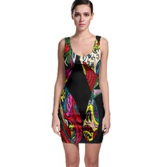 Birds Of Eight Sleeveless Bodycon Dress