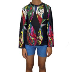 Birds Of Eight Kid s Long Sleeve Swimwear