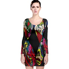 Birds Of Eight Long Sleeve Bodycon Dress