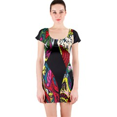 Birds Of Eight Short Sleeve Bodycon Dress