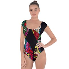 Birds Of Eight Short Sleeve Leotard (ladies)