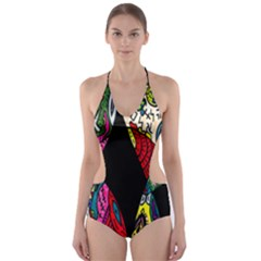 Birds Of Eight Cut Out One Piece Swimsuit