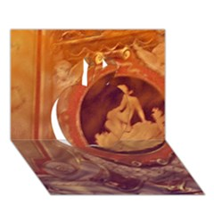 Vintage Ladies Artwork Orange Apple 3d Greeting Card (7x5)