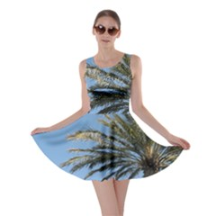 Tropical Palm Tree  Skater Dress by BrightVibesDesign