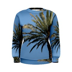 Tropical Palm Tree  Women s Sweatshirt by BrightVibesDesign