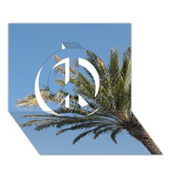 Tropical Palm Tree  Peace Sign 3d Greeting Card (7x5)  by BrightVibesDesign