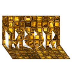 Glossy Tiles, Golden Mom 3d Greeting Card (8x4)  by MoreColorsinLife